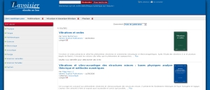 Plateforme d'e-books online de Lavoisier